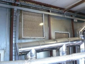 Biomass heating boilers running on wood pellets